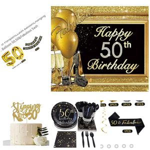 Gold and Black(50th) birthday decorations for a woman for Sale in Minneapolis, MN