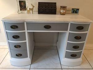 Solid wood desk/ vanity for Sale in Rockledge, FL