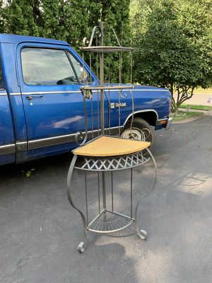 Corner metal stand with shelves for Sale in North Wales, PA