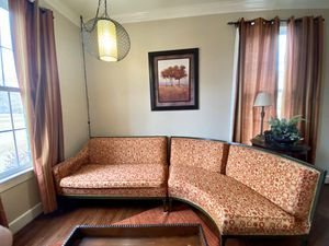 Retro Sofa Couch 2 Piece Sectional for Sale in Virginia Beach, VA