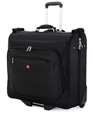 SWISSGEAR Premium Rolling Garment Bag   Bonus Hanging Feature   Men's and Women's Carry-on Luggage - Black for Sale in Norfolk, VA