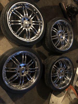 20 inch chrome rims for Sale in Dedham, MA