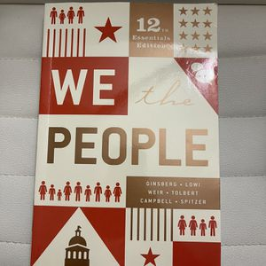 We the People12th Edition Ginsberg Book for Sale in Bellevue, WA