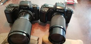 2 NICE NIKON N6006 35MM SLR CAMERS WITH LENSES for Sale in San Diego, CA