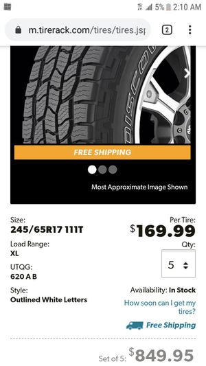NEW 5 Tires Cooper DISCOVERER AT3 4S All-Season 245/65R17 for Sale in Fairfax, VA