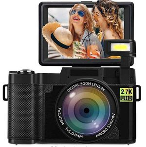 Digital Camera Vlogging Camera 2.7K 24MP Full HD Camera for YouTube 3.0 Inch 180 Degree Rotation Flip Screen with Retractable Flash Light for Sale in Oakland Park, FL