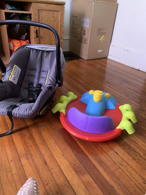 Baby car seat and toy for Sale in Schenectady, NY