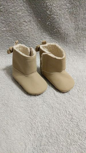 0-3 month baby girl's tan boots for Sale in Wellford, SC