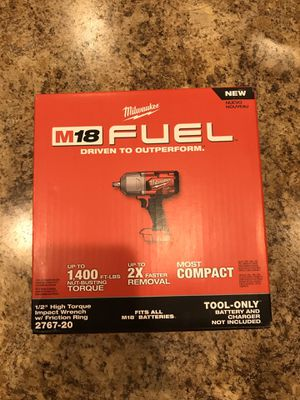 """Milwaukee 1/2"""" High Torque Impact 2767-20 for Sale in New Market, MD"""