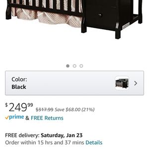 Baby crib/ Changing Table WITH mattress NEW for Sale in Burlington, NJ