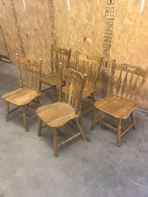 Solid wooden chairs for Sale in Inman, KS