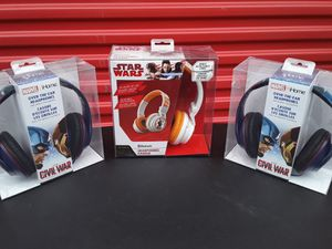 Marvel Captain America × Star Wars Bluetooth Headphones 🎧 🎧 🎧 ((( $28.00 FOR ALL ))) for Sale in College Park, GA