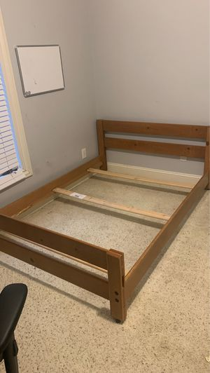 Wooden bed frame (queen) for Sale in Greensboro, NC
