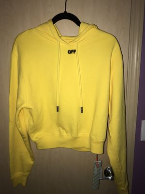 NEVER WORN Off White Yellow Black Hoodie Hoodie for Sale in Seattle, WA