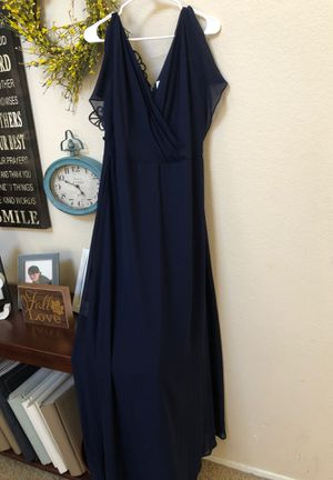 Navy bridal dress- new from David's Bridal for Sale in Chino, CA
