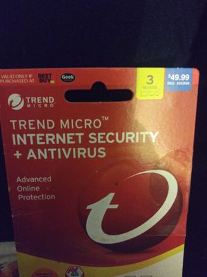 Antivirus for 3 devices tablet laptop phone etc for Sale in Garden Grove, CA