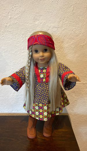American girl doll Julie in calico outfit EUC for Sale in Madison, NJ