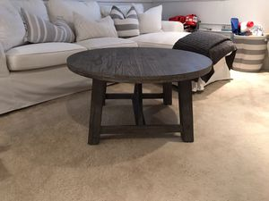 Coffee Table - grey stained solid wood for Sale in Halethorpe, MD