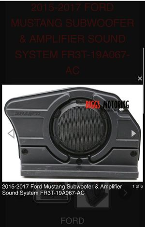 2015-2017 Ford Mustang Subwoofer & Amplifier for Sale in South Pasadena, CA