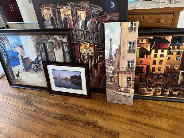 ***FREE*** Lot of 6 framed pictures/paintings
