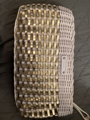 Kate Spade Basket Weave Clutch for Sale in Sebastian, FL