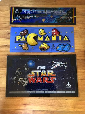 Old school glass and plastic arcade video games signs for Sale in San Jose, CA