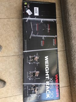 Brand new weider squat rack \ bench press heavy duty Olympic weight for Sale in Las Vegas,  NV