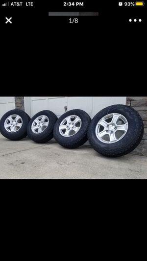 Brand new 2020 Jeep Wrangler gladiator wheel with Bridgestone all terrain. 245/75 R 17 for Sale in Kent, WA