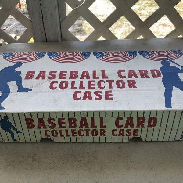Baseball card collector case
