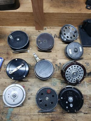 Lot Of 10 Vintage Fly Fishing Reels Martin Young Perrine Williams Meisennelback Higgins for Sale in Alta Loma, CA