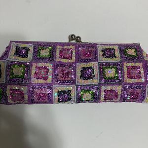 Purple, Green, Marshmellow, Lilac, Egg-Shell Sequence Elegant Wedding Banquet Purse for Sale in Dundee, FL