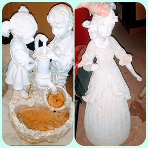 Pair of Lawn Decor Statue/Fountain for Sale in Avard, OK