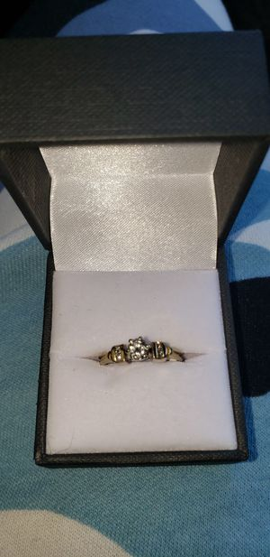 14k yellow gold diamond ring size 4 for Sale in Seattle, WA