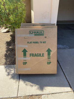 Flat panel large U-Haul TV boxes for Sale in Phoenix, AZ
