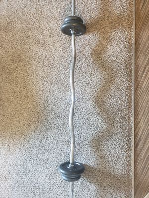 Curl bar and weights for Sale in Denver, CO