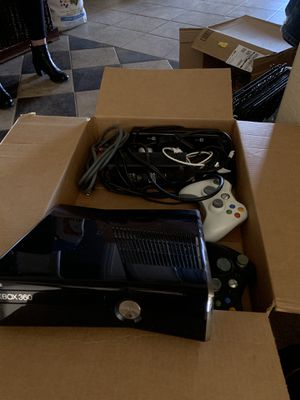 Xbox 360 with 2 controllers and all cords for Sale in Peoria, AZ