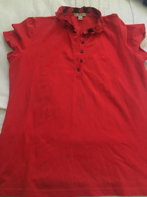 Red Burberry shirt for Sale in Stockton, CA