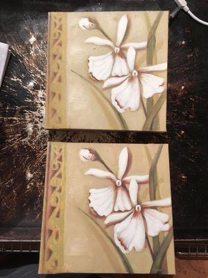 Canvas lily painting decor for Sale in Cashmere, WA
