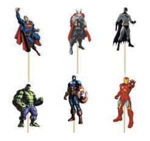Avengers Cupcake Toppers Avengers Super Hero Birthday Party Decoration Kids Supplies 24 Pcs for Sale in Margate, FL
