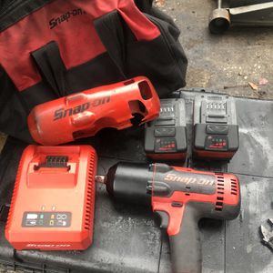 Snap On 1/2 Impact 2 Batteries Charger And Bag for Sale in Spring Hill, FL