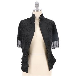 Lovely Victorian Black Grosgrain Beaded Jacket for Sale in Lakewood, CO