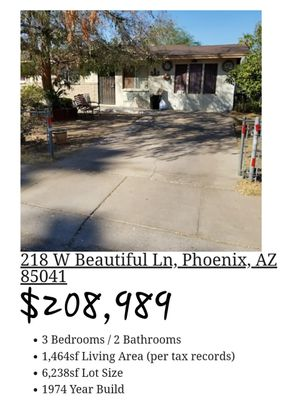 house cheap CASAS BARATAS for Sale in Phoenix, AZ