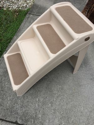 Fold up flat pet stairs height 18 width 15 for Sale in Davie, FL