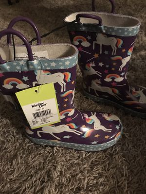 Girls rain boots size 11 kids for Sale in Ceres, CA