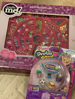 Shopkins season 5 charms & alphabet beads for Sale in Fremont,  CA