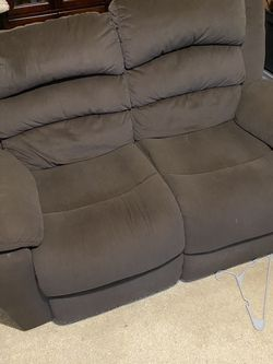 Barely Used Reclining Sofa &love Seat Brown Uy for Sale in Baltimore,  MD