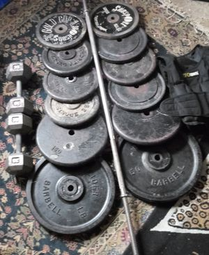 490 pounds weight vest dumbbells 30 lb each for Sale in Washington, DC