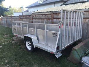 Aluminum Utility trailer 12' w/ ramp tail gate. for Sale in North Plains, OR