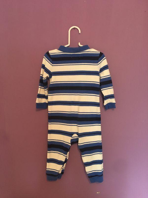 Ralph Lauren | Baby boy Blue Striped long sleeve one-piece | 9 months