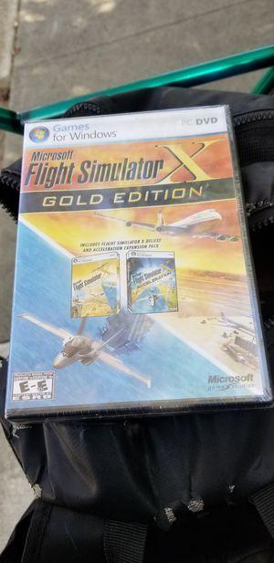 Microsoft Flight simulator X gold edition *brand new* for Sale in Newark, CA